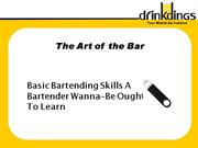 Basic Bartending Skills Every Bartender Should Have by Drinkdings