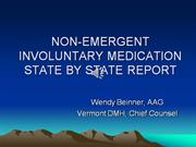 NON-EMERGENT INVOLUNTARY MEDICATION STATE BY STATE REPORT.revised 10.1