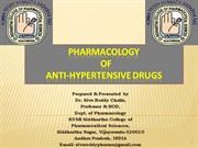 Pharmacology of anthypertensive drugs