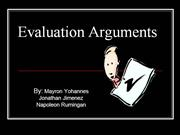 Arguments of Evaluation