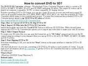How to convert DVD to 3D