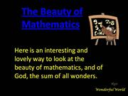 The beauty of mathsmatics