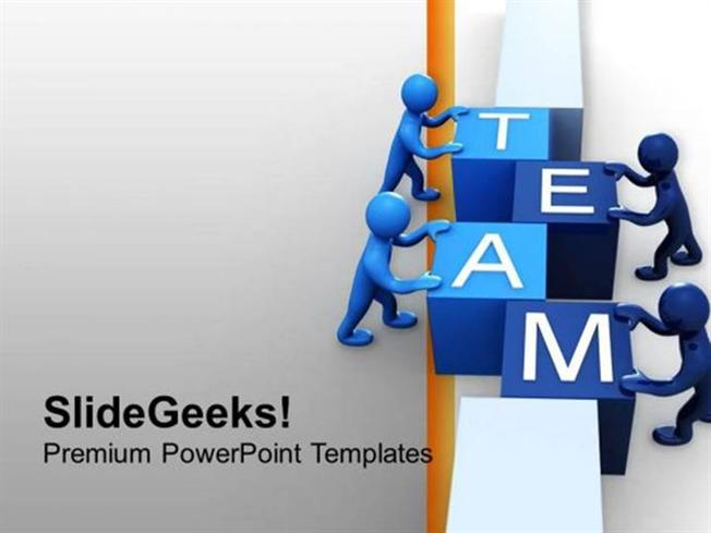 People 3D Man Team Teamwrok Ppt Template-Powerpoint Template