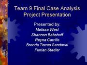 Team 9 Final Project Presentation