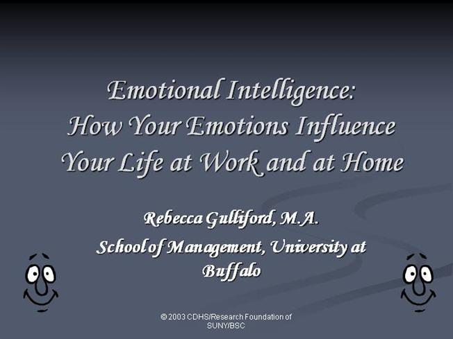 Emotional Intelligence Presentation Ppt |authorSTREAM