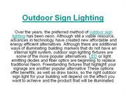 Outdoor Sign Lighting