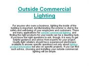 Outside Commercial Lighting