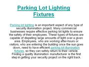 Parking Lot Lighting Fixtures
