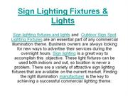 Sign Lighting Fixtures & Lights