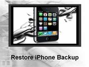 Resolve Restore iPhone backup issues!