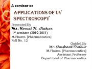 UV spectroscopy application