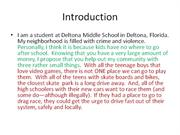 Sample student paragraphs (8th grade only)