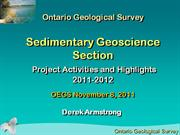 Ontario Geological Survey, Sedimentary Geoscience Section, Nov 08/11
