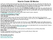 How to Create 3D Movies