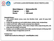 LUB 3 MATEMATIKA IPA PAKET 2