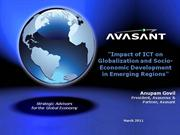 Impact of ICT on Globalization and Socio-Economic Development Avasant