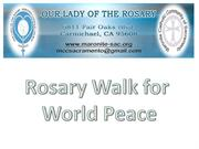 Rosary Walk for World Peace Title Slideshow