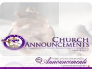 ANNOUNCEMENTS - Sunday Nov 13, 2011