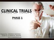 PHASE 1 CLINICAL TRIALS