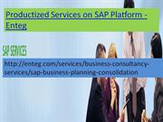 Enteg Productized services on SAP Platform