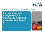 Ofsted Inspection arrangementss from 2012