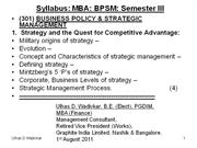 Business Policy & Strategic Management- Notes-2011-12
