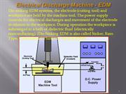 Electrical Discharge Machine - EDM