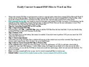 Easily Convert Scanned PDF Files to Word on Mac