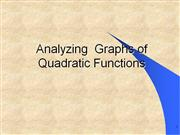 Analyzing  Graphs of Quadratic Functions