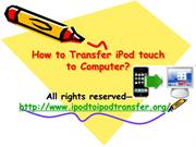 How to Sync iPod touch to Computer