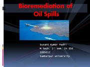 bioremidiation of oil contaminated water