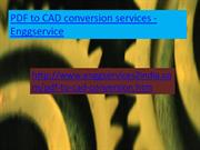 Enggservice -PDF to CAD Conversion Services