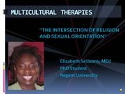 Multicultural Therapies - Sexual Orientation and Religion