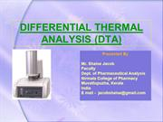 DIFFERENTIAL THERMAL ANALYSIS (DTA) ppt