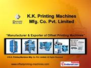 K.K. Printing Machines Mfg. Co. Pvt. Limited Faridabad India