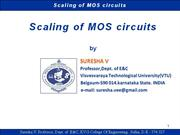 SV-scaling of MOS circuits