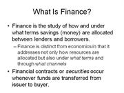 The Global Financial Community