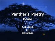 Panther's Poetry Audio Demo