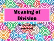Meaning of Division