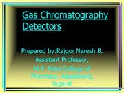 GAS CHROMATOGRAPHY DETECTORS