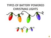 Types Of Battery Powered Christmas Lights