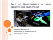 Bioinformatics in drug designing and development
