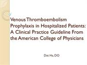 JC2011-11 Guidelines DVT prophylaxis - Dr. Ha (no narration)