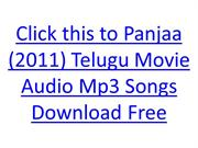 Panjaa (2011) Telugu Movie Audio Mp3 Songs Download Free