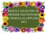 Result Analysis of Higher Secondary Examinatin 2011-Alappuzha
