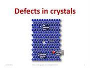 Defects in crystals