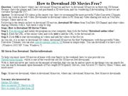 How to Download 3D Movies Free