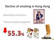 Decline of smoking in Hong Kong