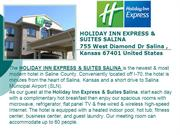 Holiday Inn Express & Suites Salina Kansas Hotel - I 70