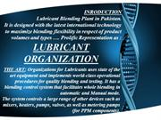 Presentation for Lubricants
